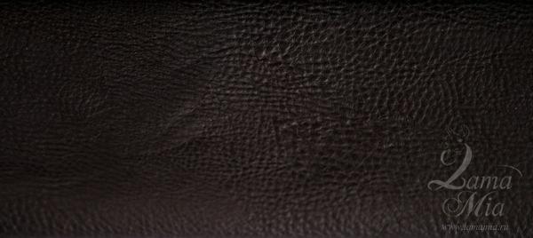 Образец кожаной тёмно-коричневой обивки кресла для отдыха Маэстро и кресел-качалок Маэстро (модели 9-Д, 9-К, 41, 013.0042, 013.0041, 013.009)