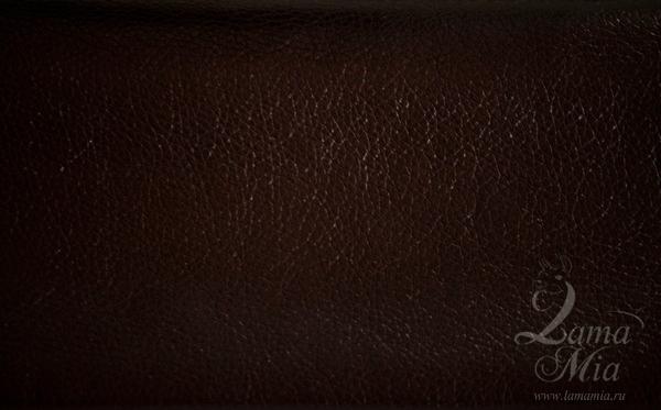 Образец кожаной коричневой перламутровой обивки кресла для отдыха Маэстро и кресел-качалок Маэстро (модели 9-Д, 9-К, 41, 013.0042, 013.0041, 013.009)
