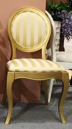 Золотой стул с полосками. Купить стул в интернет магазине Lamamia.ru из новой коллекции польских дизайнерских стульев можно будет  в марте 2015 года