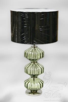 Настольная лампа с прозрачным трёхсекционным стеклянным корпусом