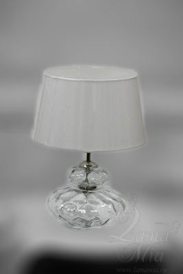Настольная лампа с бесцветным хрустальным корпусом