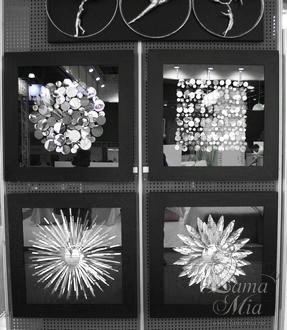 """Настенные панно """"Металлический декор-1,2"""", """"Монеты квадрат"""", """"Монеты круг"""" в коллекции дизайнерских панно интернет магазина lamamia.ru"""