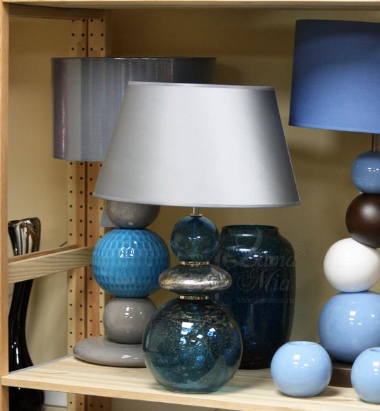 9113/Indigo лампа настольная из португальского стекла купить в интернет магазине lamamia.ru
