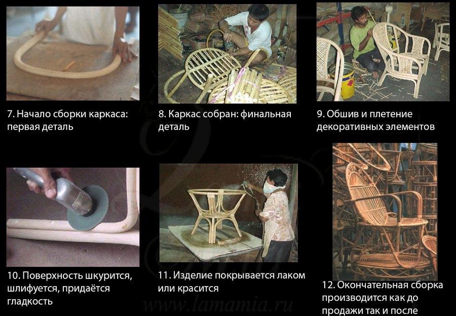 Как делают мебель из ротанга в Индонезии