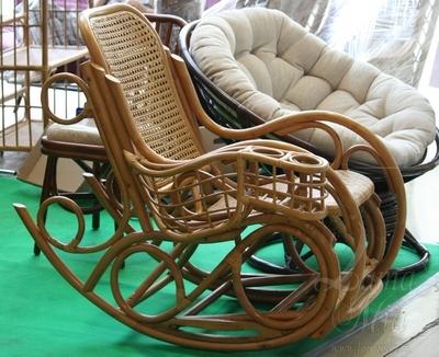 Кресла-качалки из натурального каламуса