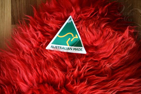Овчина Новозеландская 8-ми шкурная красная 2 х 2 м купить в интернет магазине lamamia.ru