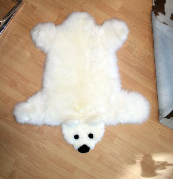 Овчина Белый медвежонок 1,0 х 1,1 м купить в интернет магазине lamamia.ru