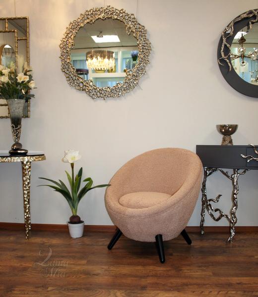 Кресло Moon меховое розовое 48MY-2746 LPI купить в интернет магазине lamamia.ru, бесплатная доставка по Москве