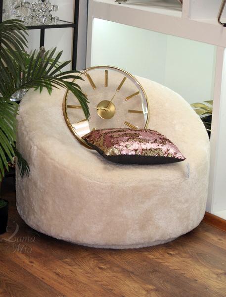 Кресло вращающееся Luna с кремовым мехом ZW-20086 CR купить в интернет магазине lamamia.ru, бесплатная доставка по Москве
