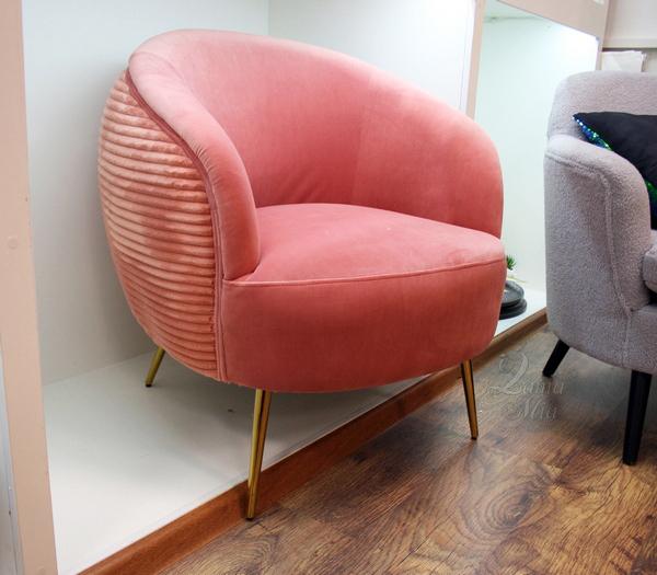 Кресло-бочонок кораллового цвета 48MY-2582 COR GO купить в интернет магазине lamamia.ru, бесплатная доставка по Москве